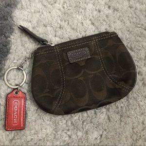 Coach coin keychain